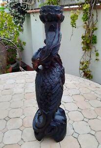 Oiseau-chandelier-en-bois-sculpte