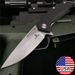 """8""""ASSISTED FOLDING TACTICAL KNIFE D2 Blade Camping Pocket Open Knives"""