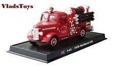 Amercom Fire Trucks 1:43 Bedford City of Liverpool Fire Brigade 1939 ACSF30