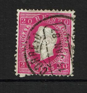 Portugal-SC-40-Used-two-shallow-ctr-thins-embossing-thins-see-notes-S9830