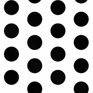 details about big dots polka dot wallpaper black white a617 cao 2