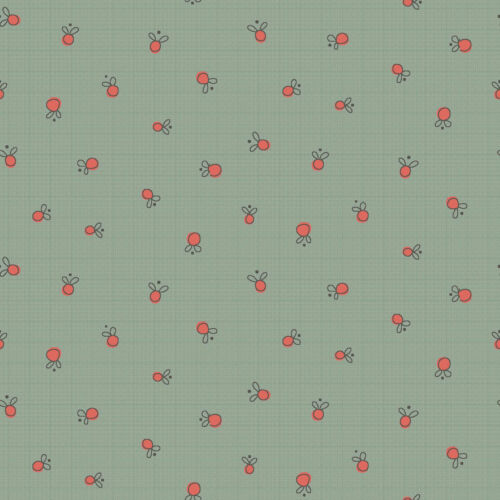 por Metro 1//4 Verde Quilting fabric 4703-485 Henry Glass Jardín Whimsey