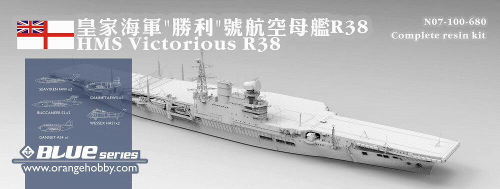 orange Hobby 1 700 100 HMS Victorious R38 (1966) British Aircraft Carrier Resin
