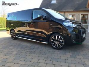 To-Fit-2016-Peugeot-Expert-Traveller-SWB-Stainless-Steel-Side-Bars-Step-Pads
