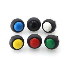 6pcs Waterproof Momentary Onoff Push Button Mini 12mm Round Switch Pbs 33b