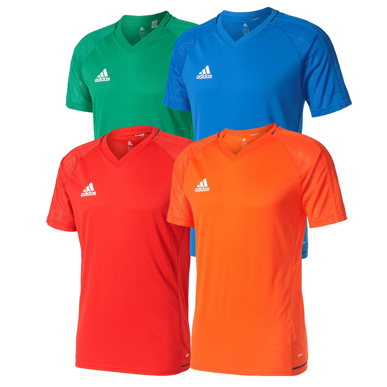 54b42249 adidas Tiro 17 Training Jersey 3 Stripe Top Mens Climalite New | eBay