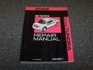 2008 toyota tundra truck shop service repair manual vol1 limited sr5 rh ebay com 2008 toyota tundra repair manual free 2008 toyota tundra repair manual pdf