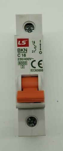1A 4A to 63A Circuit breaker Brand New in box 2A 6kA LS MCB