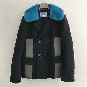 Image Is Loading Prada Pop Art Decor Blue Mink Collar Pea
