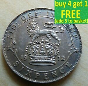 George-V-Sixpence-6D-pieces-en-argent-choisissez-votre-date-1910-1936-Choix