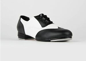 so danca spectator black and white tap shoe for new