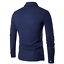 Luxury-Men-Casual-Shirt-Slim-Long-Sleeve-Formal-Business-Dress-Shirt-T-Shirt-Top thumbnail 9