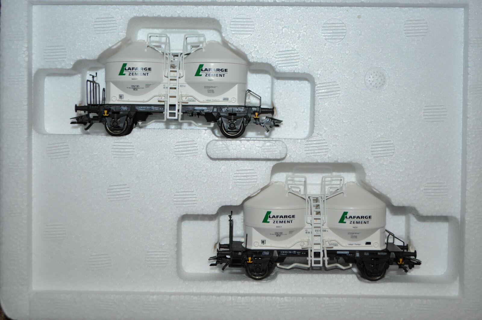 Marklin 46614 2auto Silo Lafarge Powder Bulk Transport EUrossoRAINnuovo in scatola