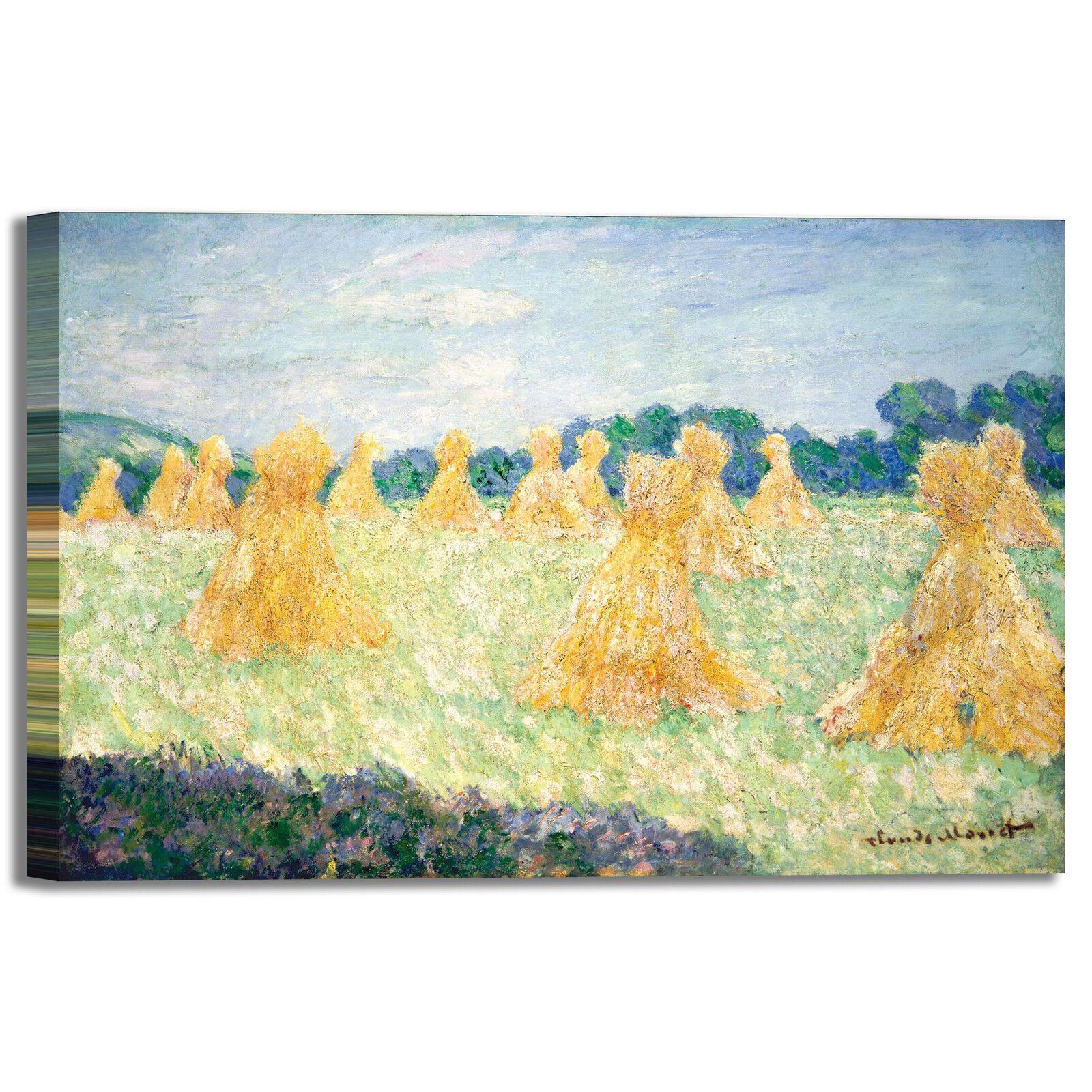 Monet signorine di Giverny design quadro stampa tela dipinto telaio casa arRouge o casa telaio 8b3ee8