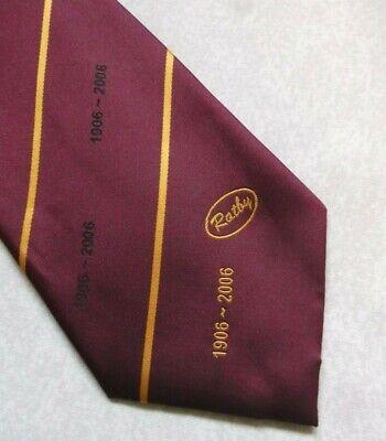 Temperato Vintage Cravatta Da Uomo Cravatta Crested Borgogna Gold Club A Righe Ratby 1906-2006-