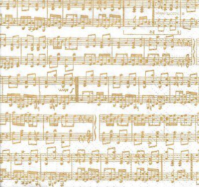 Lot de 2 Serviettes en papier Musique Violon Decoupage Collage Decopatch