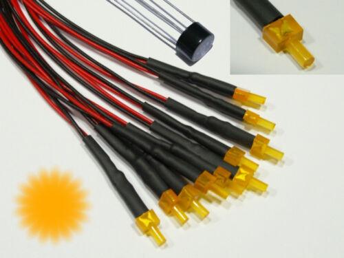 S880-5 pezzi Blink Tower LED 2mm ARANCIO essere diffusa con Cavo per Flash 12-19v