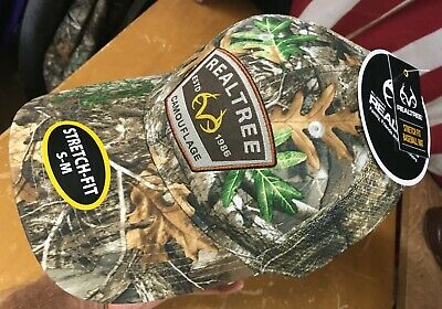 NWT new RealTree Edge Patch CAMO Flex-Stretch Fit HAT ball CAP sz S-M Hunting