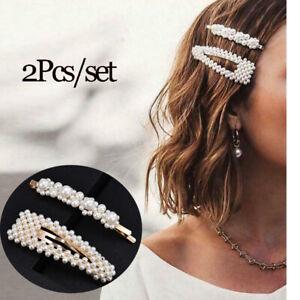2Pcs-Pearl-Hair-Clip-Snap-Barrette-Stick-Hair-Pin-Hair-Accessories-Prom-Bridal
