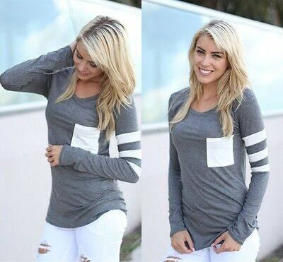 Women Ladies Casual Crochet Pullover Long Sleeve Loose Tops T-Shirt Blouse Hot