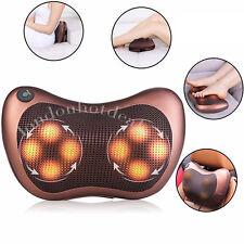 Electric Heat Massage Pillow Lumbar Neck Back Shiatsu  Cushion Kneading Home Car