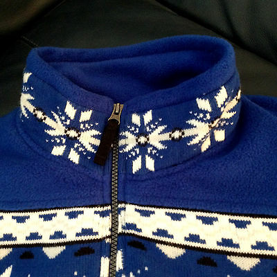 M Beautiful Condition Vittorio Rossi Woman's Jacket Blue/white/black