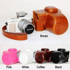 Leather Hard Camera case bag Grip strap for OLYMPUS Pen E-PL7 EPL7 E-PL8 EPL8