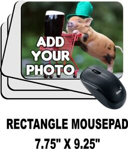 LOGO CUSTOM PRINTED MOUSE PAD PERSONALIZED PHOTO ADD YOUR OWN IMAGE
