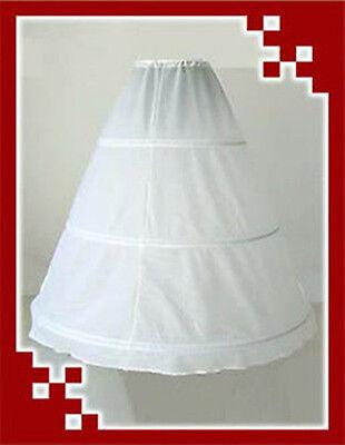 Lengthen Reifrock 3 Ringe weiß A line Brautkleid Tüllrock Unterrock Petticoat