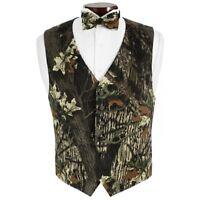 Mossy Oak Tuxedo Vest And Bowtie