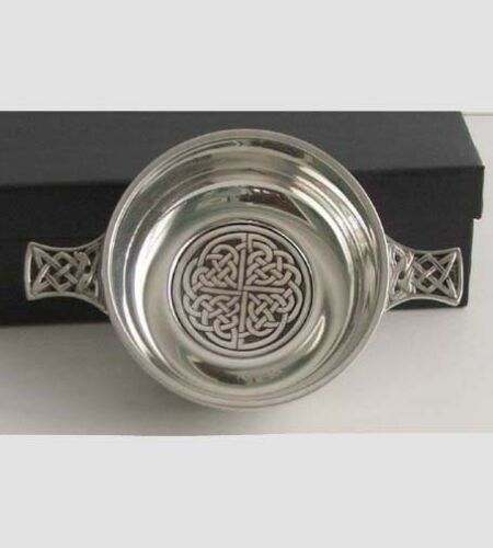Pewter CELTIC Knot Design QUAICH Imported from England  for Wedding