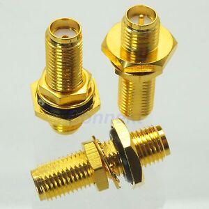 1pce-SMA-female-to-RP-SMA-female-plug-nut-bulkhead-RF-adapter-connector