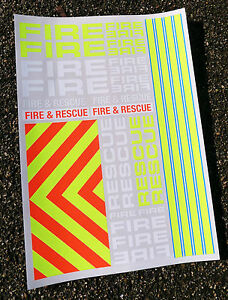RC-039-FIRE-amp-RESCUE-039-1-10th-scale-decals-stickers-Tamiya-LOSI-TRAXXAS-HPI-Kyosho