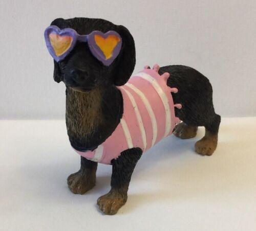 Dauchshund Figurine In Sun Glasses