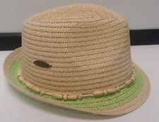 3df232128dc item 8 Womens PANAMA JACK Fedora Hat Paper Braid w Shell Beaded Trim 2