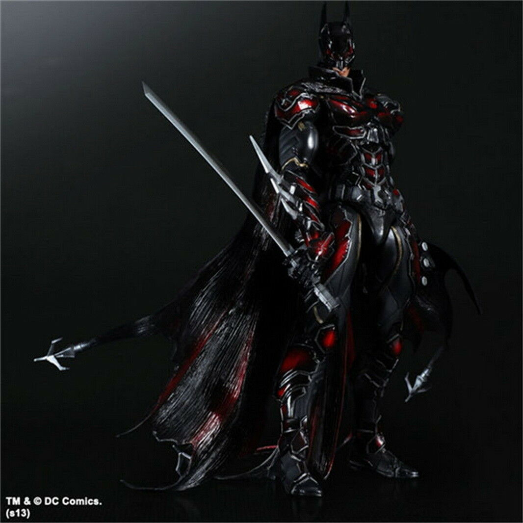 Play Arts Kai Batman Dark Knight Katana Red Limit Figure Statue Model Toy Doll