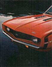 Chevrolet Camaro 1969 USA Market Leaflet Brochure Coupe Convertible Sport Z/28