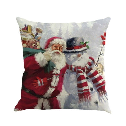 Cotton Christmas Printing Dyeing Sofa Bed Home Decor Pillow Case Cushion Cover 9