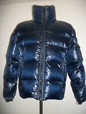 NEW NWT Men's SAM. Blue Racer Shiny Down Quilted Puffer Coat Jacket MEDIUM $395