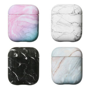 Protective Case Cover Hard Pc Marble Pattern Bag Shell For Apple Airpods 1 2 Ebay
