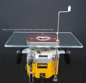 Router lift router table height adjustment raiser raizer plunge image is loading router lift router table height adjustment raiser raizer greentooth Gallery