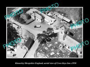 OLD-LARGE-HISTORIC-PHOTO-KINNERLEY-SHROPSHIRE-ENGLAND-THE-CROSS-KEYS-INN-c1950