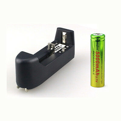 1x3.7V Universal Rechargerable Smart Battery Charger For 18650 16340 14500 26650