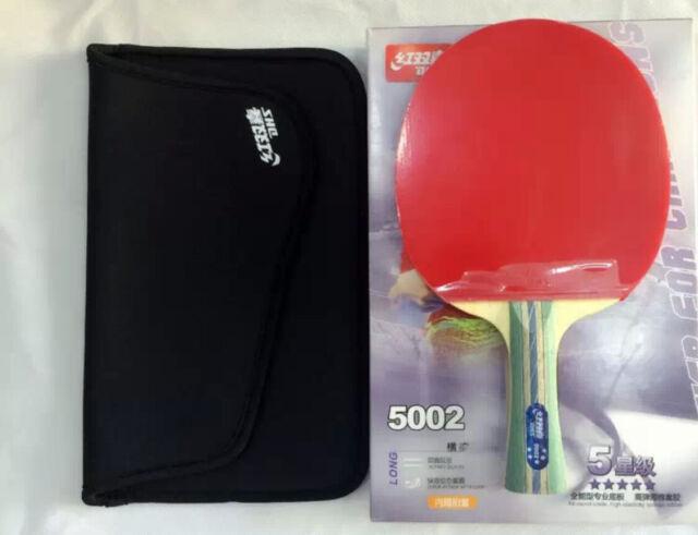 Table Tennis Rackets DHS 5002 Ping Pang Paddle Grip 5 Star Bat Long Handle  US2 58aa85ed6ab37