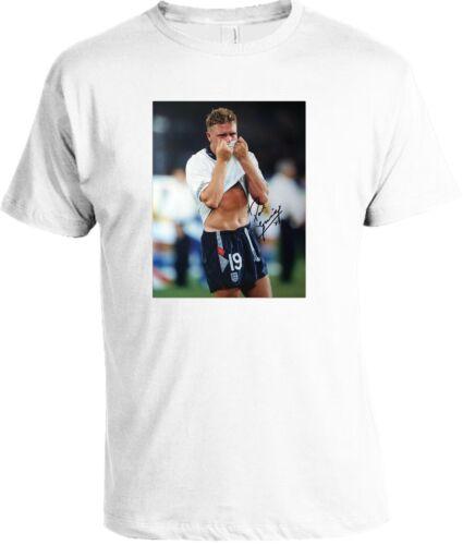Paul Gasgoigne England Signed T-Shirt Adult /& Kids Sizes