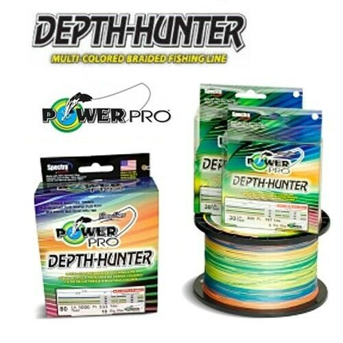 Power Pro Depth Hunter Braid Fishing Line 80 lb Test 500 Yds Multi color 80lb