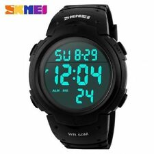 HK SKMEI LED Digital Military Watches Fashion Sports Wrist Watch Black Dial