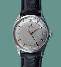 Vintage 1950 Omega  Bumper Automatic Classic Stainless Steel Men's Watch