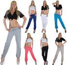 Ladies Textile Trousers Canvas Look Harem Pants Summer Aladdin Beach Baggy 9a