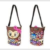 Tokidoki Crossbody Bag Neon Star Owl Canvas Purse Adjustable Strap